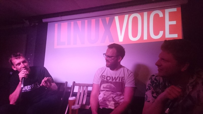 Graham, Andrew, and Ben from Linux Voice