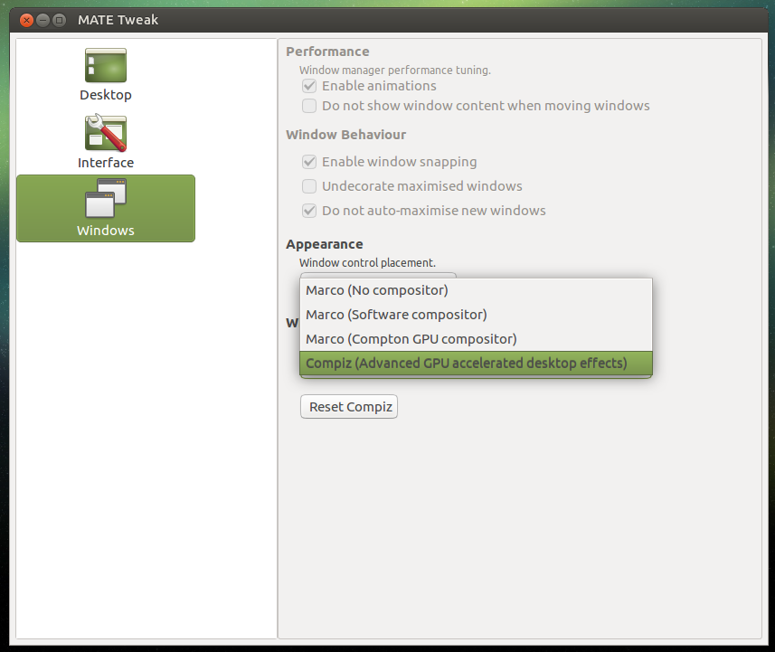 as days pass by — Enable Compiz in Ubuntu MATE to fix dragging the ...